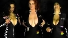 Beautiful big boobs brunette BBW boned