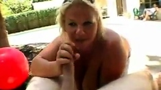 Fat and busty mature bbw getting a hardcore pussy pounding